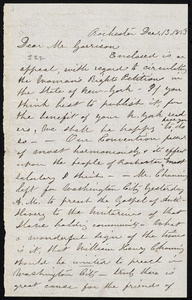 Letter from Susan Brownell Anthony, Rochester, [N.Y.], to William Lloyd Garrison, Dec. 13, 1853