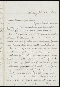 Letter from Susan Brownell Anthony, Albany, [N.Y.], to William Lloyd Garrison, Feb. 28, 1859