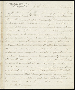 Unfinished letter from John C. Buckley, North Chelmsford, to William Lloyd Garrison, Nov. 12, [18]59