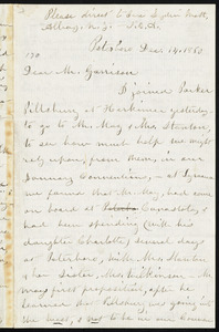 Letter from Susan Brownell Anthony, Peterboro, [N.Y.], to William Lloyd Garrison, Dec. 14, 1860