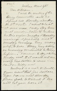 Letter from Henry Clarke Wright, Foxboro, to William Lloyd Garrison, March 4, [18]61