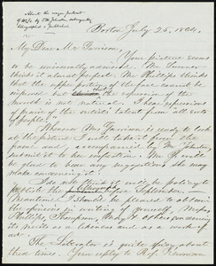 Letter from Charles Henry Brainard, Boston, [Mass.], to William Lloyd Garrison, July 25, 1864