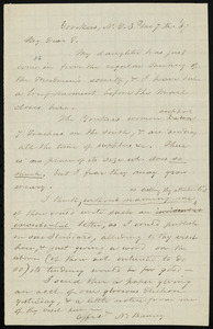 Letter from Nathaniel Barney, Yonkers, N.Y., to William Lloyd Garrison, 03 mo[nth] 7th [day] [18]67