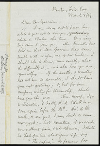 Letter from Samuel May, Boston, [Mass.], to William Lloyd Garrison, Friday Ev[enin]g, March 8, [18]67