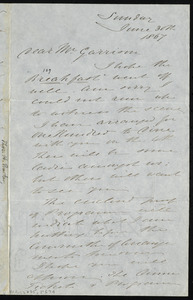 Letter from Thomas Holliday Barker, to William Lloyd Garrison, Sunday, June 30th, 1867