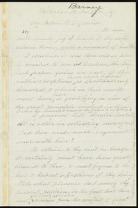 Letter from Nathaniel Barney, Billerica, to William Lloyd Garrison, 12 mo[nth] 27th [day], [18]67