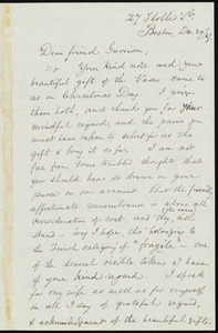 Letter from Samuel May, 27 Hollis St[reet], Boston, [Mass.], to William Lloyd Garrison, Dec. 29, [18]67