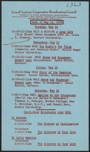 LICBC program schedule for the week of May 14, 1950