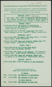 LICBC program schedule for the week of June 3, 1950