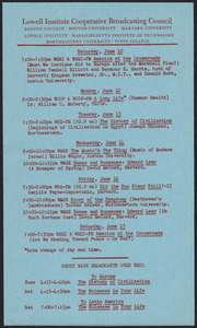 LICBC program schedule for the week of June 10, 1950