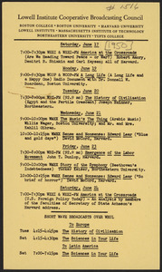 LICBC program schedule for the week of June 17, 1950