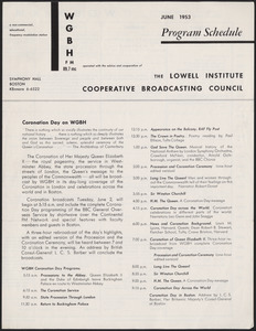 WGBH Program Schedule June 1953