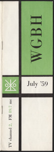 WGBH Program Schedule July 1959