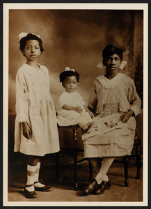 "Catherine Louise Brown and Mildred Brown, Keitha's maternal aunts, and Henrietta ""Yetta"" Brown (later Burke), Keitha's mother"