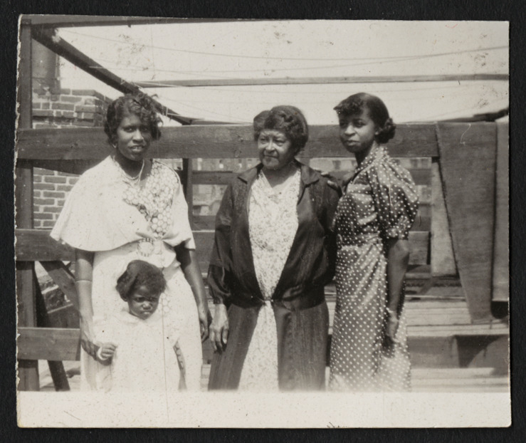 """Henrietta """"Yetta"""" Burke (nee Brown), Keitha's mother, Margaret Hall Brown, Keitha's grandmother, and Catherine Atkins (nee Brown), Keitha's maternal aunt"""