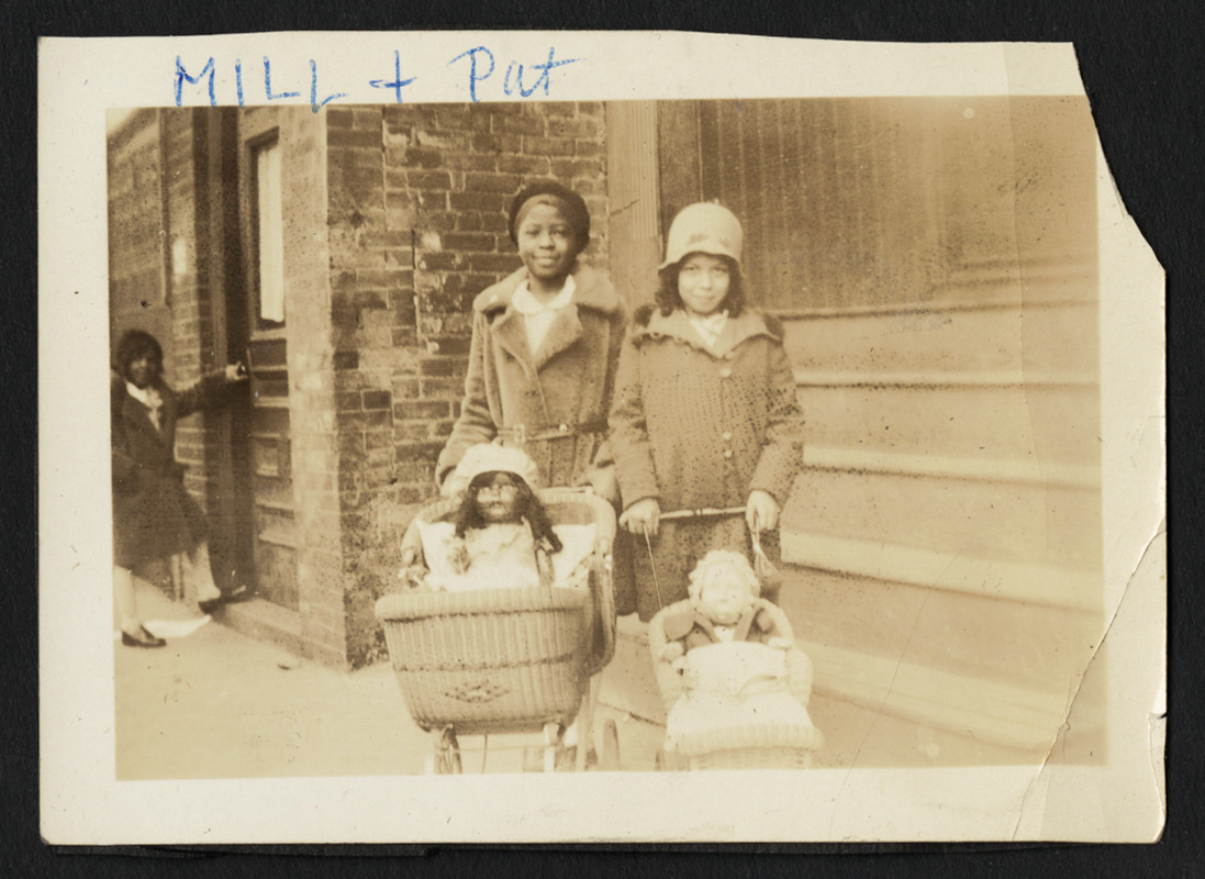 """Mildred """"Mill"""" Brown, Keitha's maternal aunt, with her friend Pat"""
