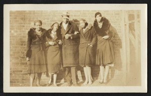 Unknown, Irma Barton Askew, Brandford Burke, Keitha's father, Estelle Barton Yearwood, and Dorothy Barton