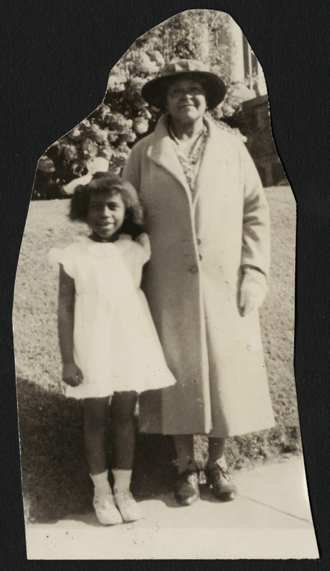 Keitha Burke Hassell with her grandmother, Margaret Brown