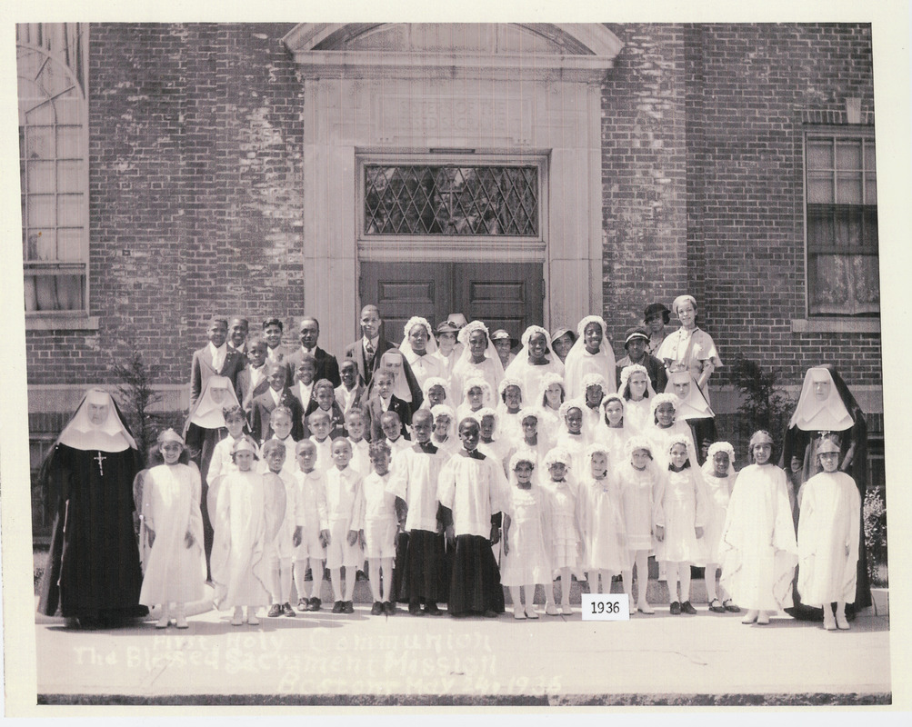 First Holy Communion, the Blessed Sacrament Mission, Boston - May 24,1936