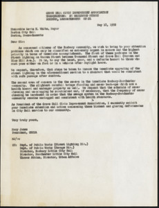 Letter from Grove Hall Civic Improvement Association, Roxbury, Massachusetts, to the honorable Kevin H. White, Mayor, May 18, 1972
