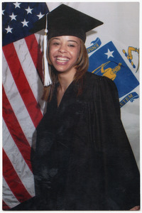 UMass Boston graduation photo for Ashley Montgomery (granddaughter of Myrtle's brother, Irvin Toon)