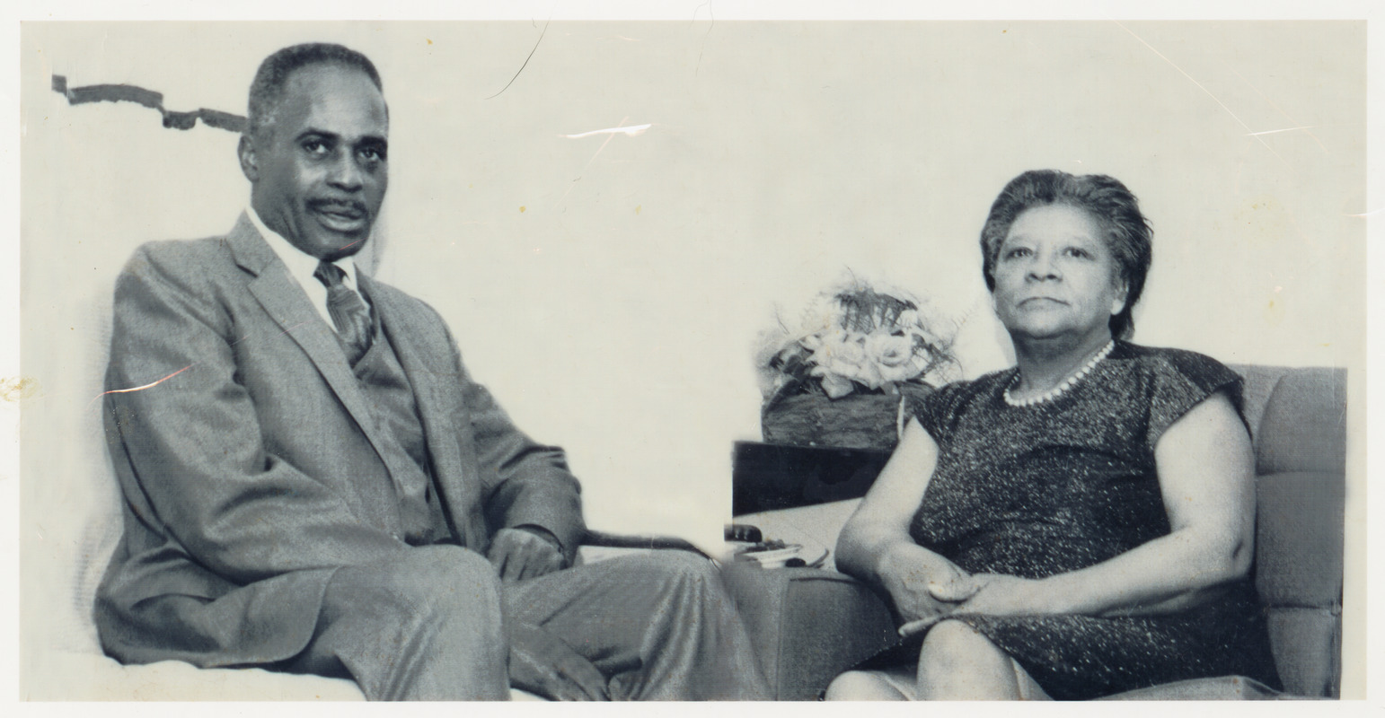 Daniel and Helen Toon (Myrtle's father and mother) at South End Cathedral Housing Project