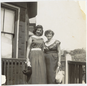 Paula Brown with her mother, Ethel Brown