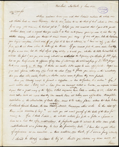Robert Balmanno, New York, autograph letter signed to R. W. Griswold, 9 [July] 1842