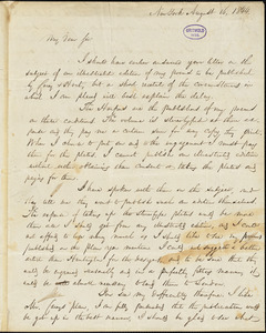 William Cullen Bryant, New York, autograph letter signed to R. W. Griswold, 16 August 1844