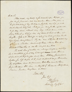 Henry Charles Carey autograph letter signed to [R.W. Griswold], 9 August 1845