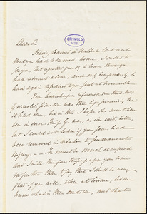 Henry Charles Carey, Burlington, NJ., autograph letter signed to R. W. Griswold, 30 May 1853