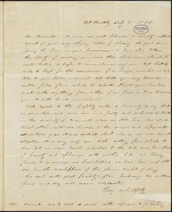 Alice Cary, Mt. Healthy, OH., autograph letter signed to R. W. Griswold, 3 July 1848