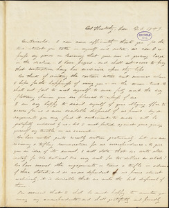 Alice Cary, Mt. Healthy, OH., autograph letter signed to R. W. Griswold, 26 January 1849