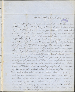 Alice Cary, Mt. Healthy, OH., autograph letter signed to R. W. Griswold, 25 March 1850