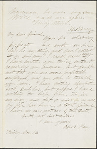 Alice Cary autograph letter signed to R. W. Griswold, 16 November [1865]