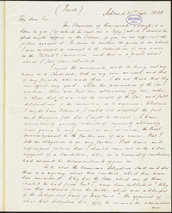 Henry Clay, Ashland, KY., autograph letter signed to Horace Greeley, 21 September 1848