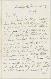 Aaron Ogden Dayton, Washington, DC., autograph letter signed to R. W. Griswold, 16 January 1857