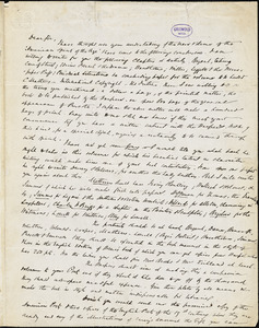 Evert Augustus Duyckinck, New York, autograph letter signed to R. W. Griswold, 3 September 1844