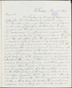 Daniel Embury, Brooklyn, NY., autograph letter signed to R. W. Griswold, 16 December 1842