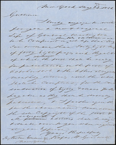 J. Emmins for Virtue Emmins & Co, New York, autograph letter signed to R. W. Griswold, 23 May 1856