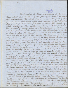 George W. Eveleth, Philips, ME., autograph letter signed to R. W. Griswold, 7 September 1852