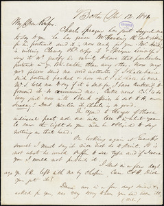 James Thomas Fields, Boston, MA., autograph letter signed to R. W. Griswold, 12 December 1841
