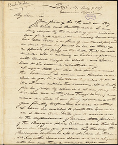 E. Burke Fisher, Pittsburgh, PA., autograph letter signed to Edgar Allan Poe, 9 July 1839