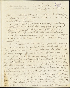 Horace Greeley, New York, autograph letter signed to R. W. Griswold, 3 December 1840