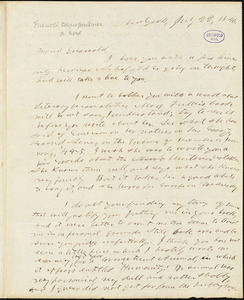 Horace Greeley, New York, autograph letter signed to R. W. Griswold, 22 July 1846