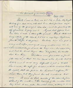 Rufus Griswold, New York, letter signed to R. W. Griswold, 9 January [1843?]