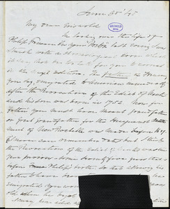 Charles Fenno Hoffman, New York, autograph letter signed to R. W. Griswold, 30 June 1845