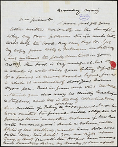 Charles Fenno Hoffman, New York, autograph letter signed to R. W. Griswold, [23 March 1847?]