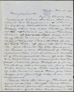 Charles Fenno Hoffman, Philadelphia, PA., autograph letter signed to R. W. Griswold, 30 December 1848