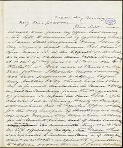 Charles Fenno Hoffman, Wednesday morning., autograph letter signed to R. W. Griswold, [22 December]